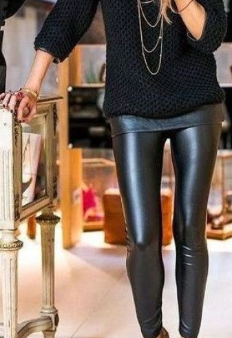 3-20 Ways to Wear Leather Leggings